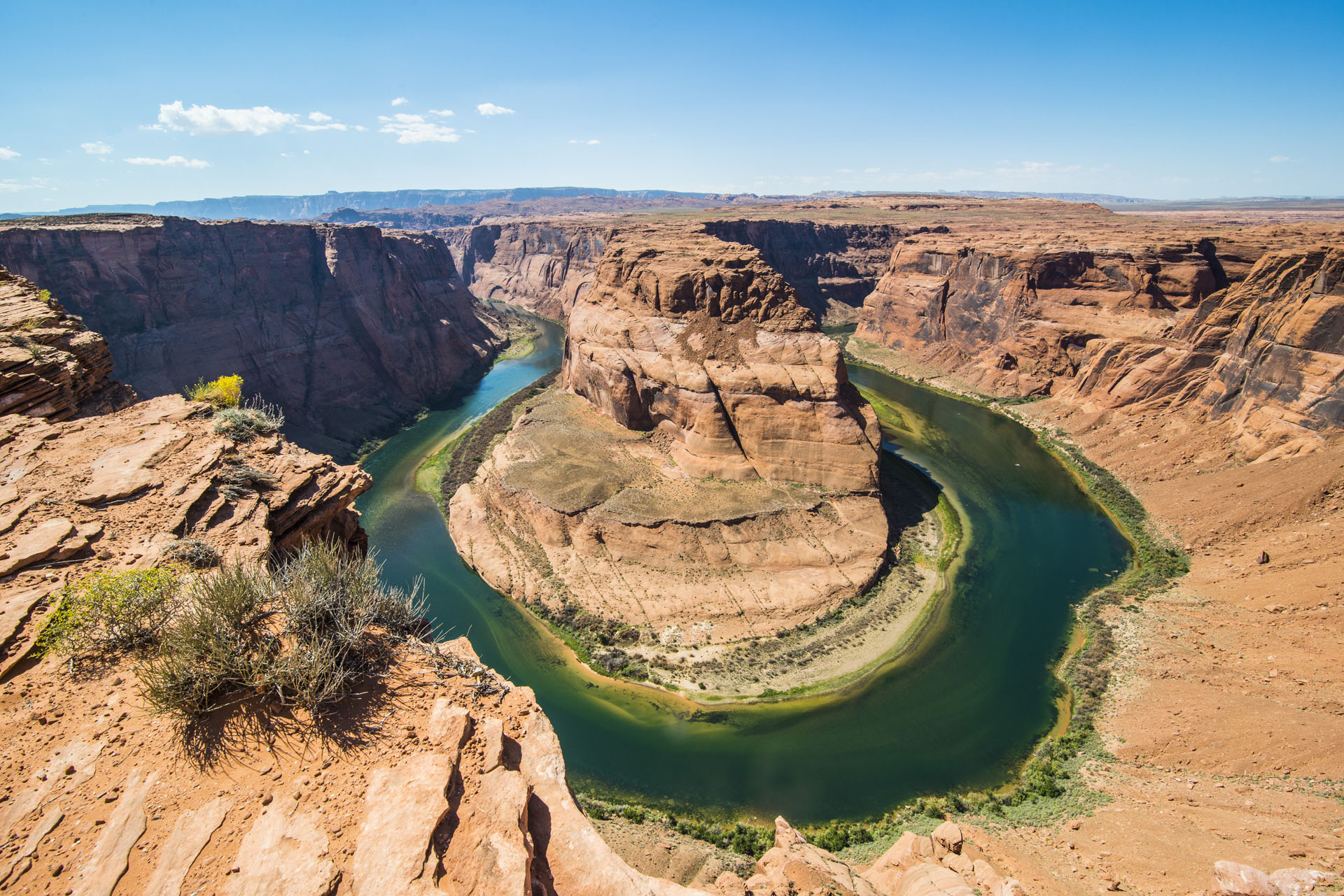 Horseshoe Bend on the Colorado River at the South Rim, Arizona, United States of America, North America