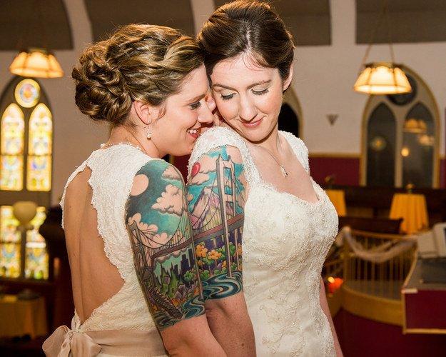 невеста и татуировка