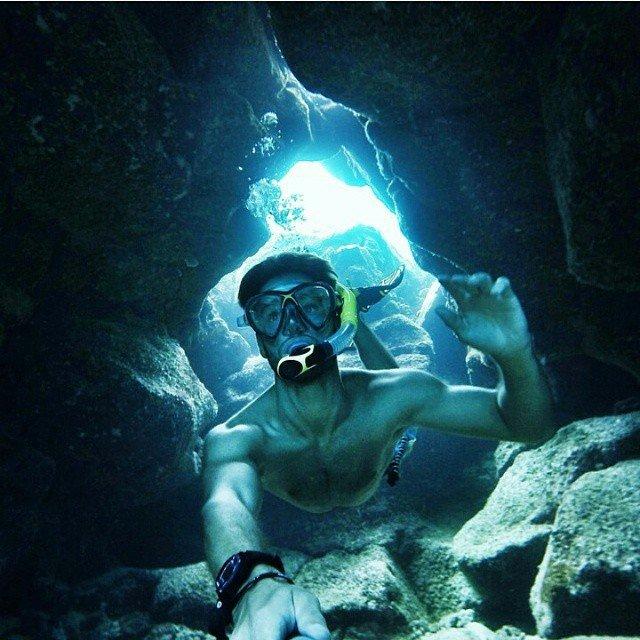 Селфи на дне океана