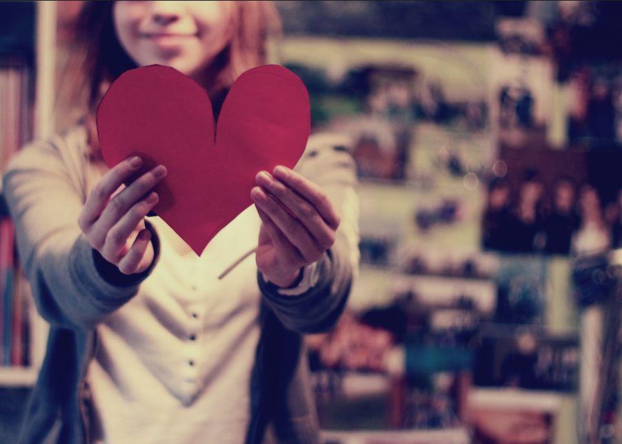 любовь и валентинка