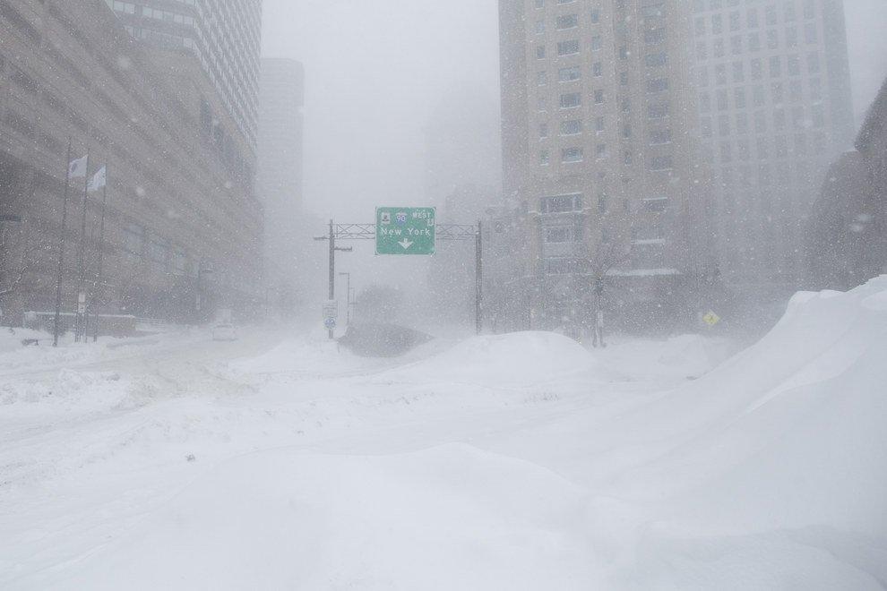снежная метель в америке 2015