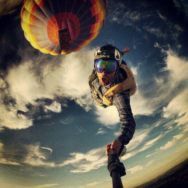 Селфи с парашюта