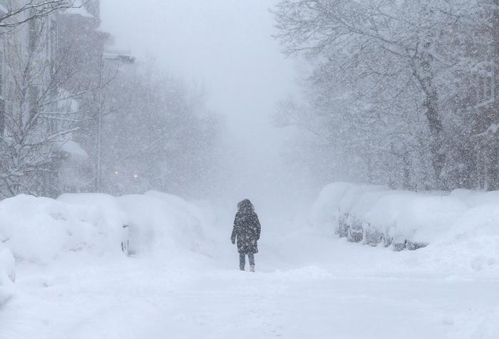Снежная зима в америке