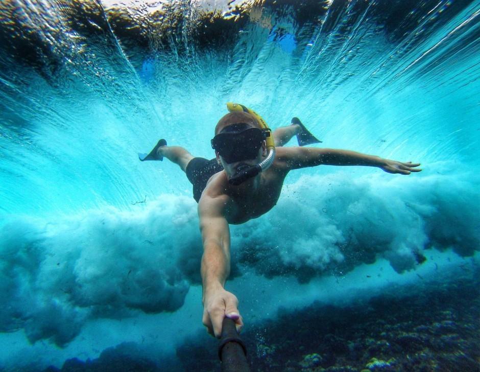 Селфи в океане