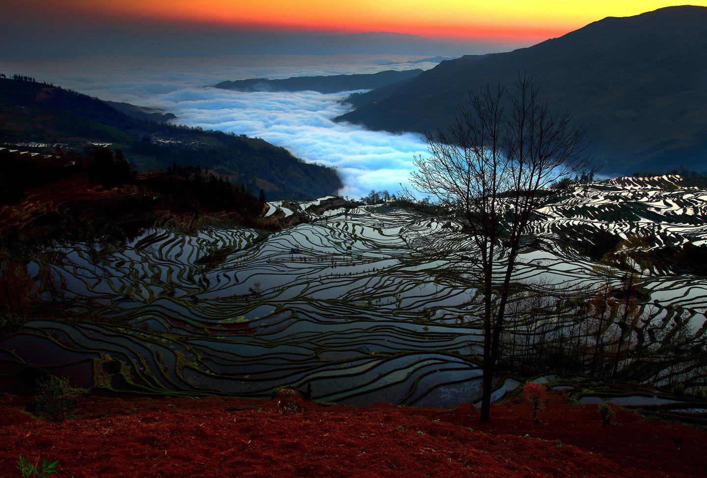 China Yuan Yang sunrise by Chee Keong Lim