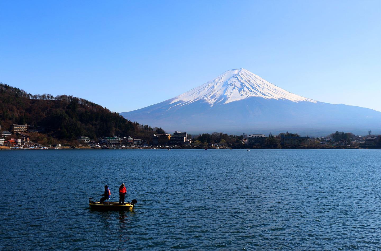 Japan Mount Fuji boat by Felix Cesare