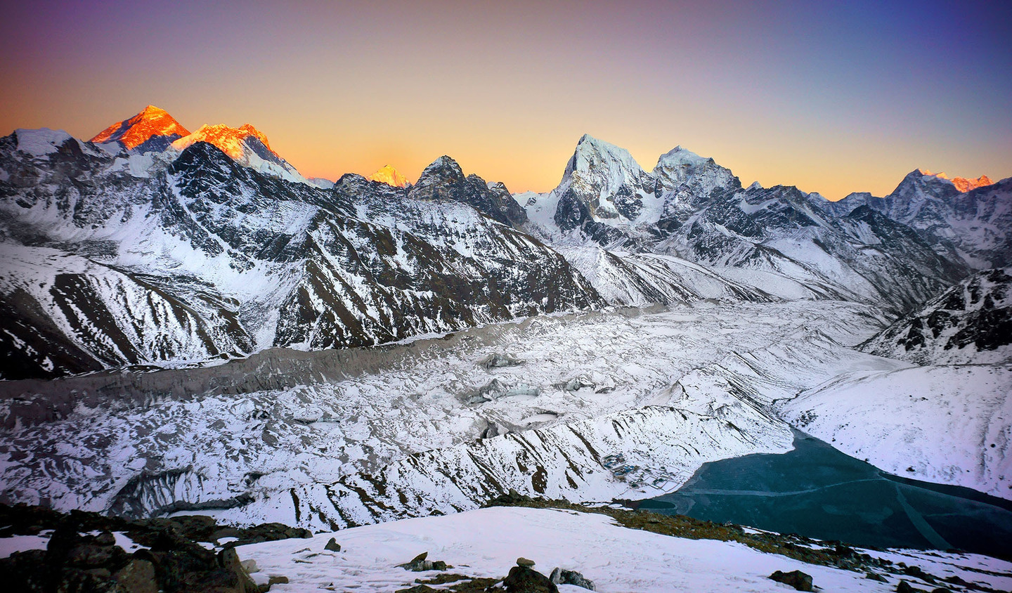Nepal view of Mt Everest from Gokyo Ri by Joseph Buchman