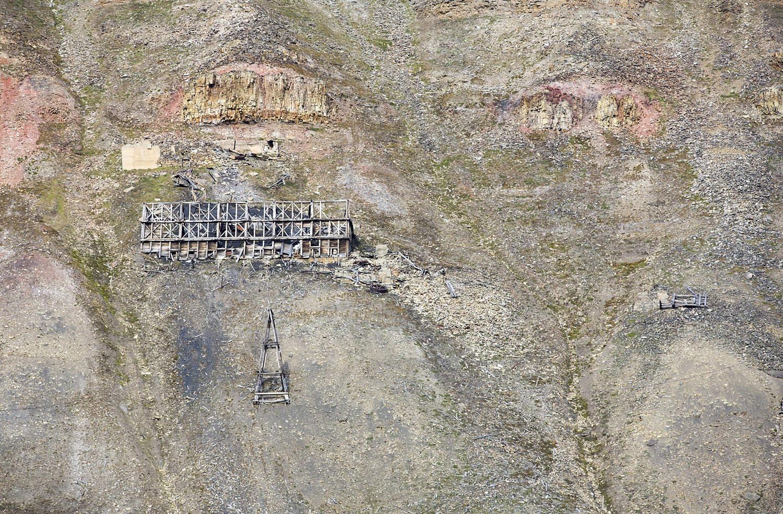 An abandoned coal mine in Longyearbyen