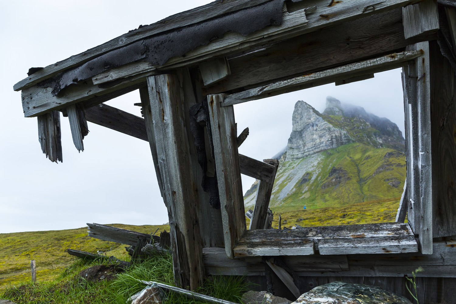 Remains of wooden shack - Spitsbergen Svalbard ,