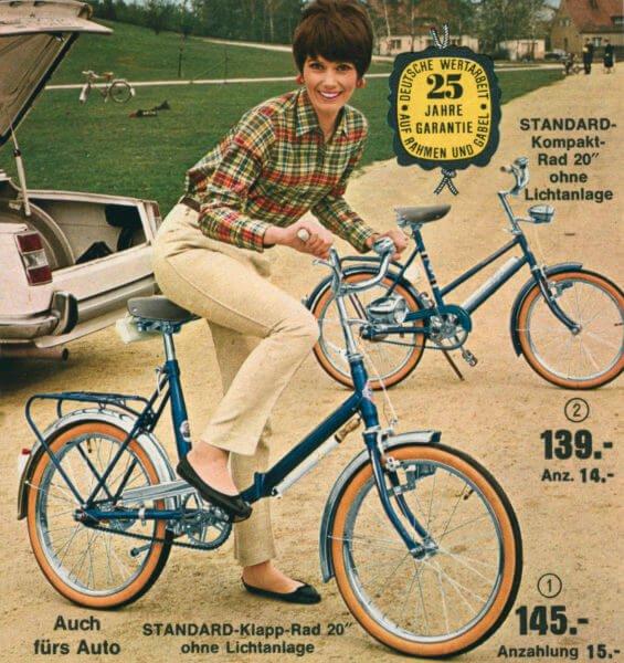Велосипед в 60-х