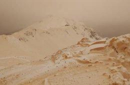 Оранжевый снег