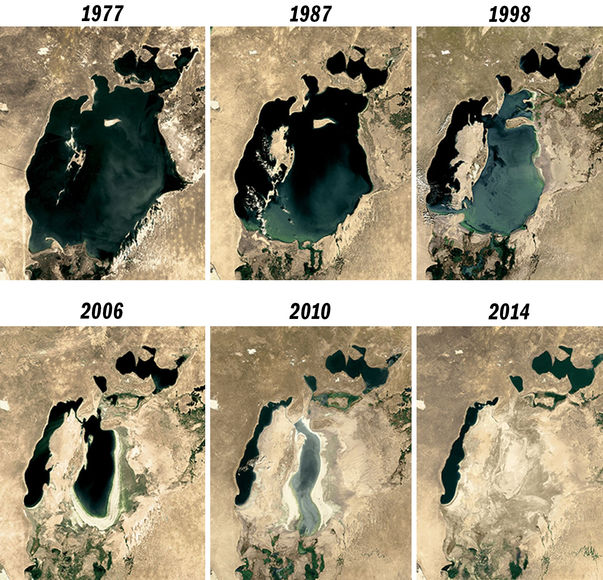 Как высохло Аральское море