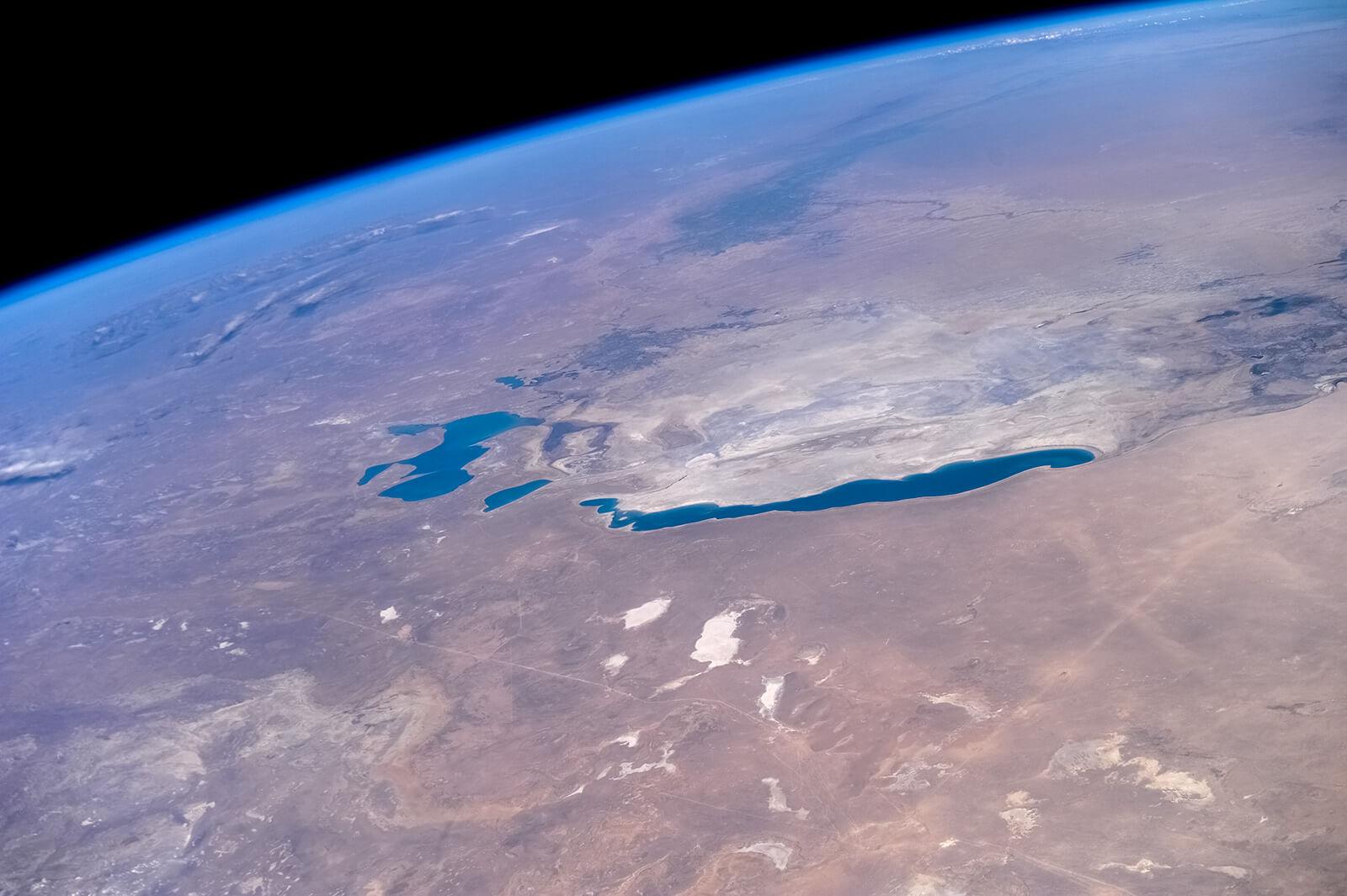 Аральское море вид с космоса