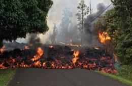 Извержение вулкана Гавайи