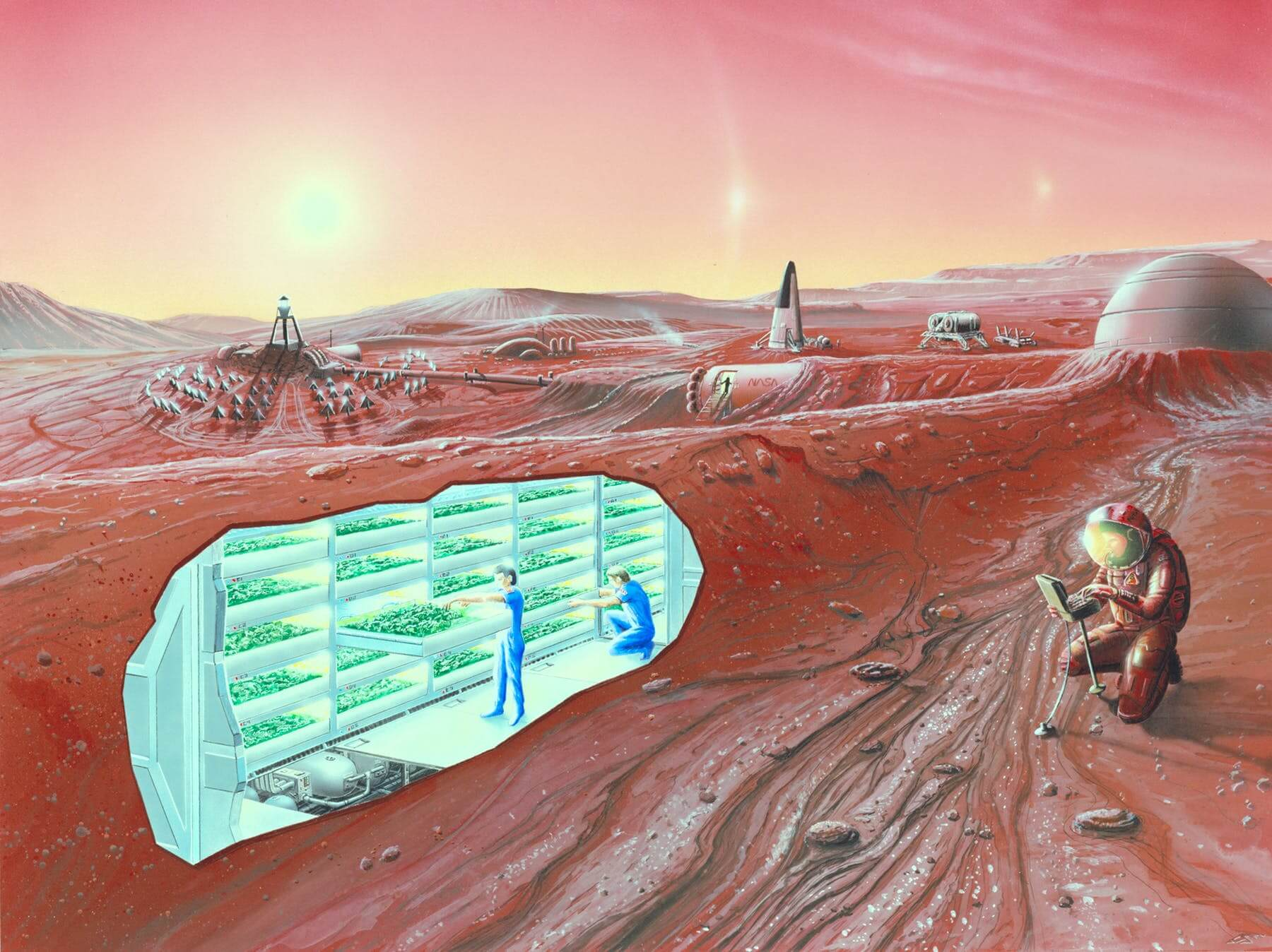 Колонисты на Марсе