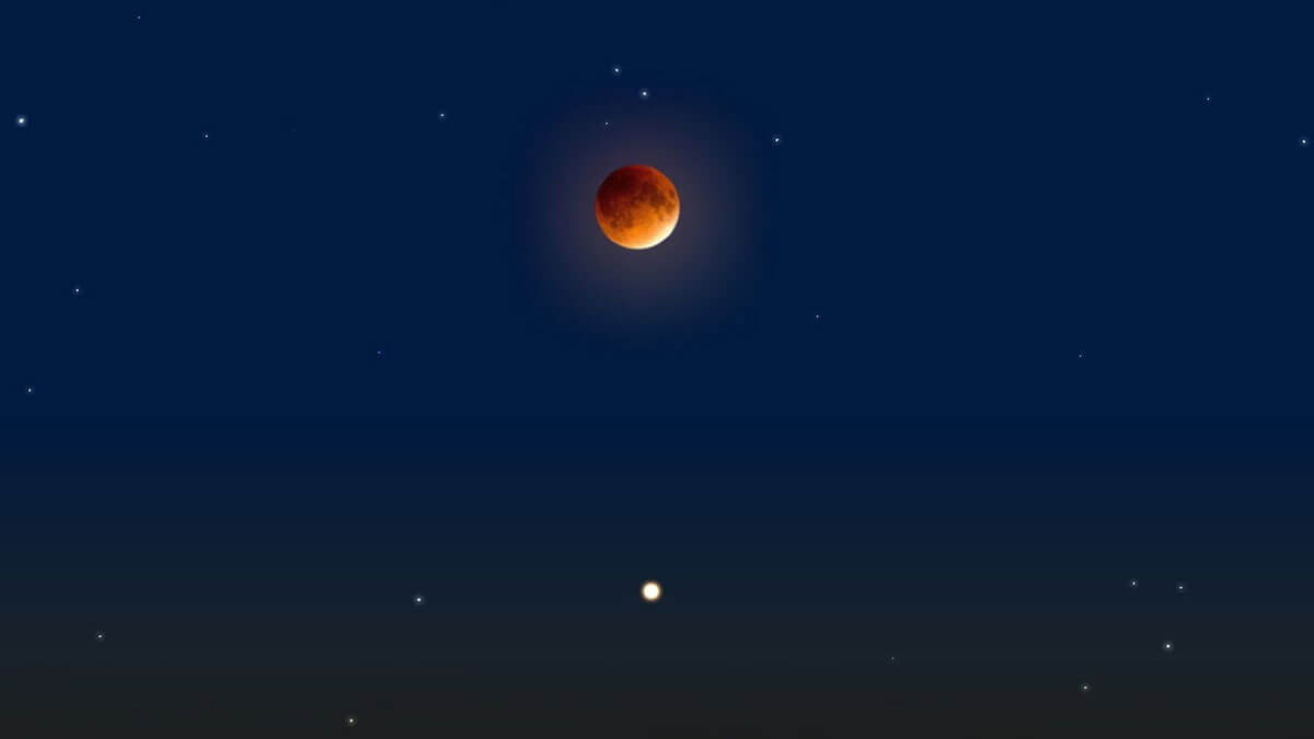 Марс и Луна