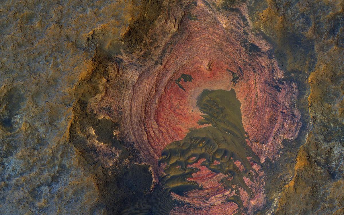 Фото скалы на Марсе