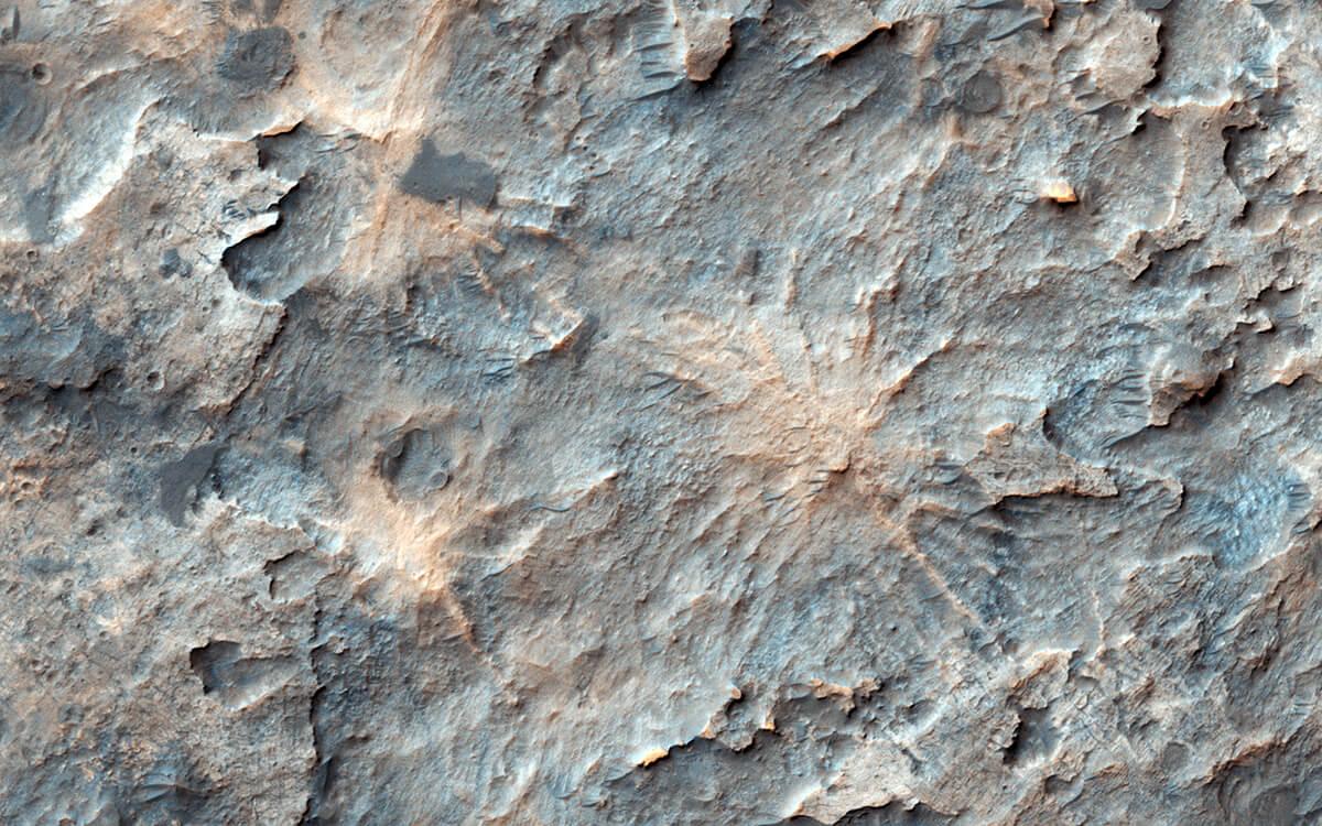 Речной канал на Марсе