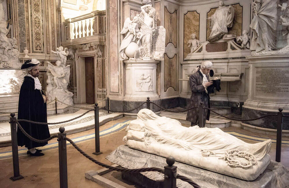 скульптура Христа Джузеппе Саммартино в Музее Сан-Северо