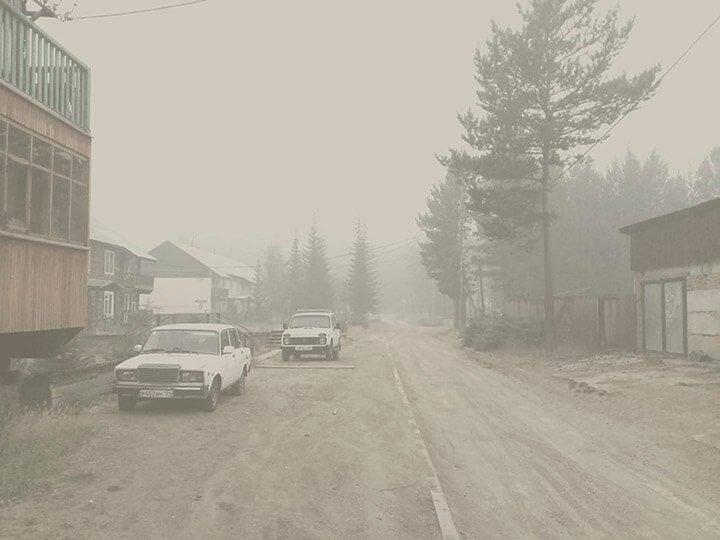 дым отпожара в Сибири
