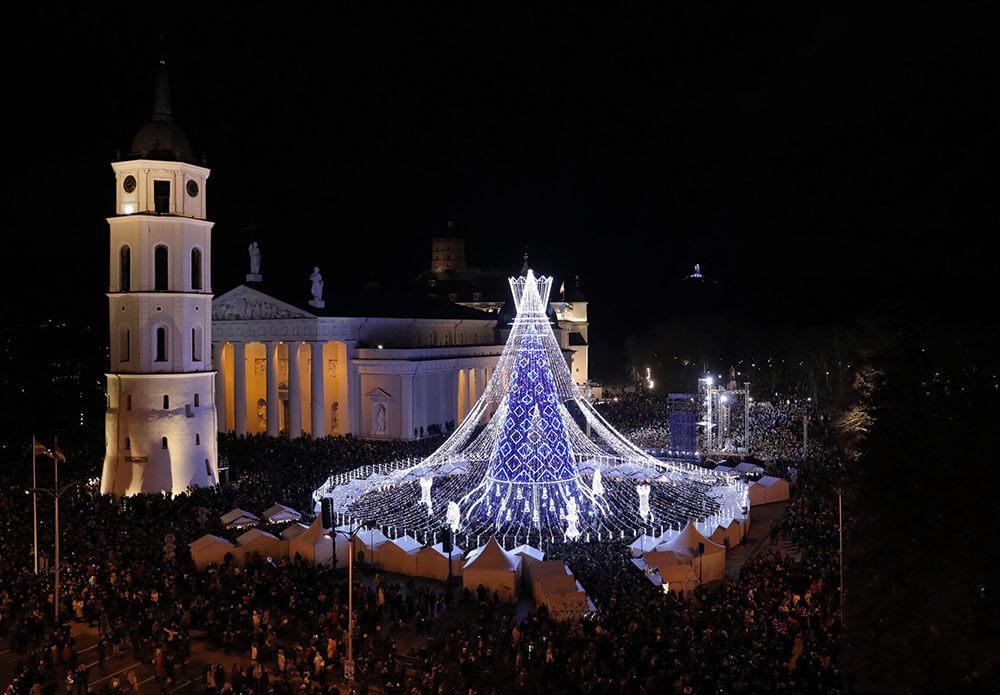 самая красивая елка в Вильнюсе