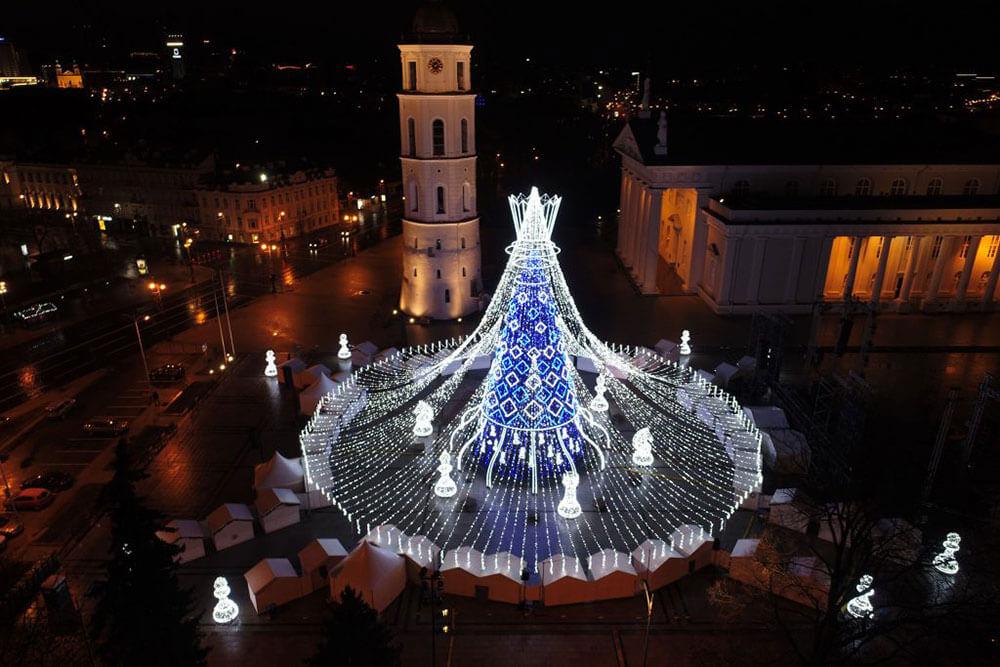 самая красивая ёлка в Вильнюсе