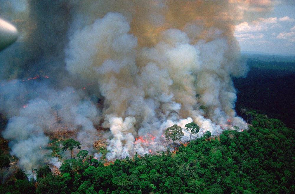 Пожары в лесах Амазонки