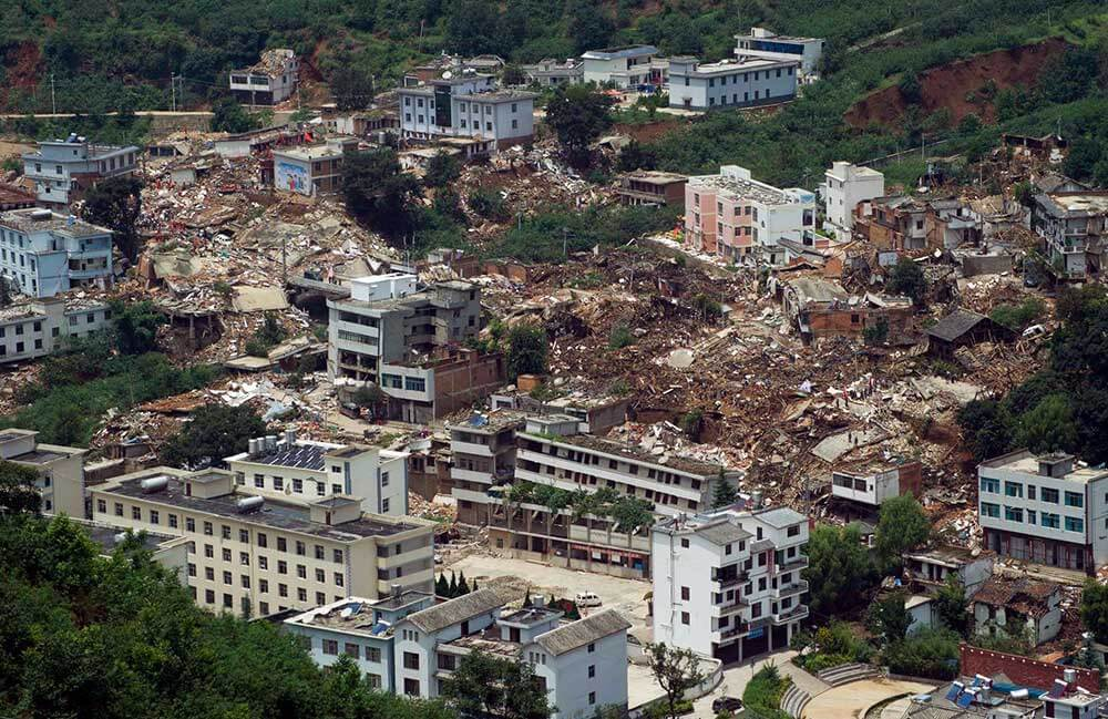 землятресение в китае