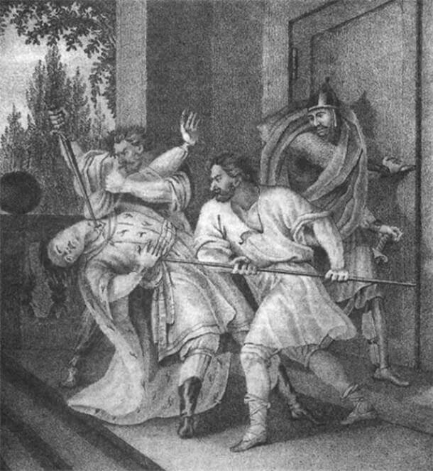 ВВладимир убивает брата Ярополка