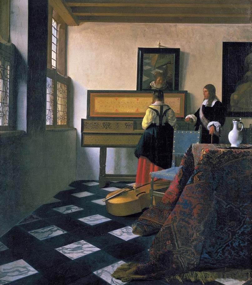 КАртина Урок музыки, Иоганнес Вермеер